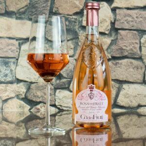 Rosa dei Frati - Ca dei Frati wide shot flasche und glas
